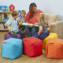 Large Quilted Bean Bag Cubes Set of 4 or 6